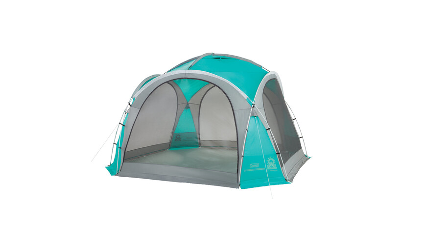 Coleman Event Dome party tent XL 4,5 x 4,5 grijs/turquoise